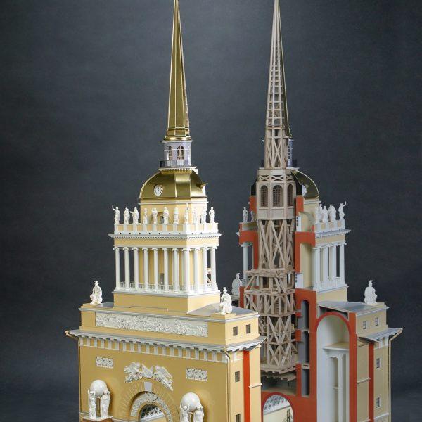 Макет здания Адмиралтейства - Адмиралтейский шпиль