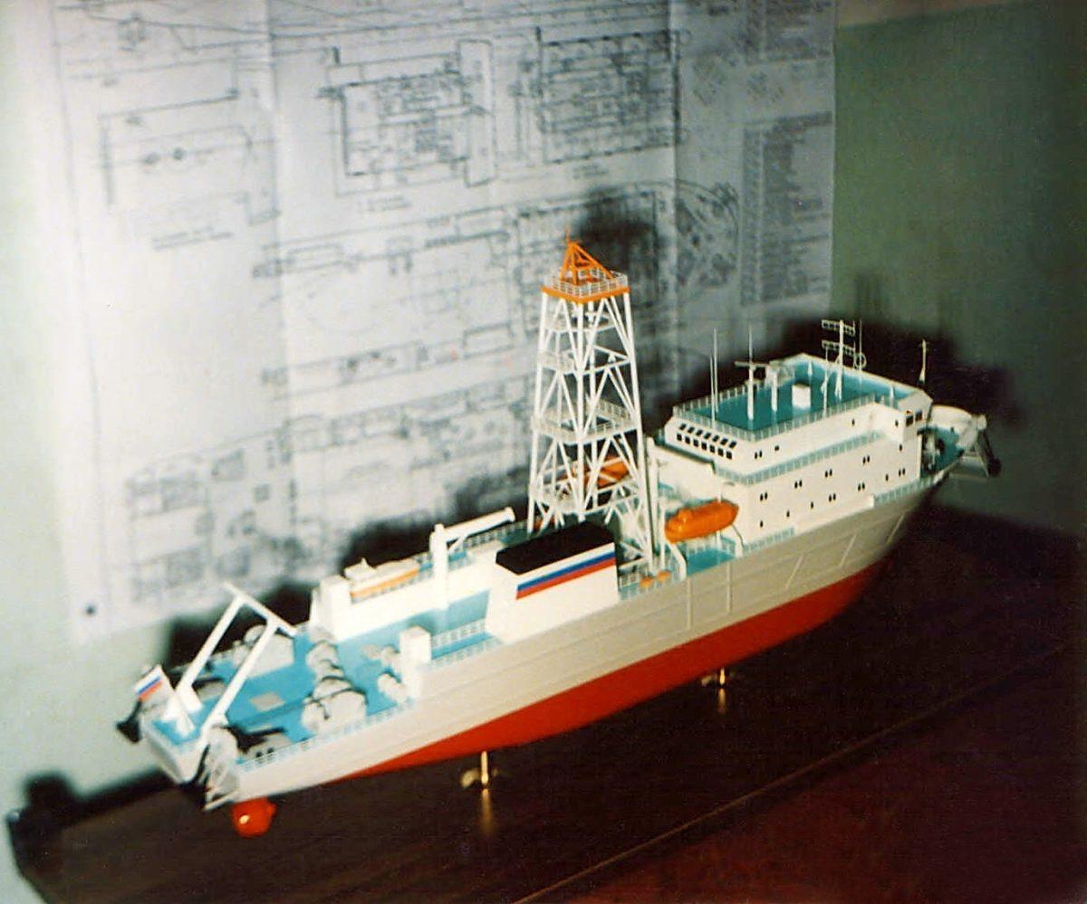 Макет изыскательного судна