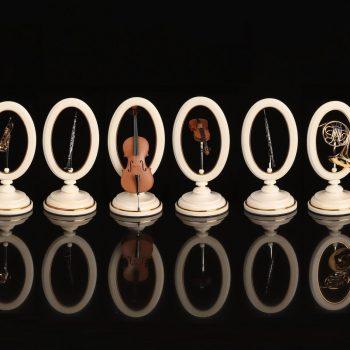 Коллекционные шахматы Оркестр Фигуры в виде музыкальных инструментов