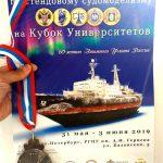 Медаль и диплом за 3 место в Международном конкурсе по стендовому судомоделизму 2019